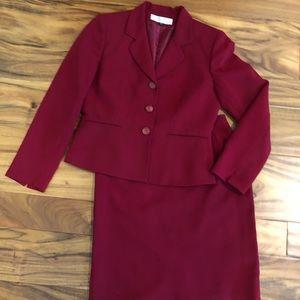 Tahari Red Skirt Suit - size 6p